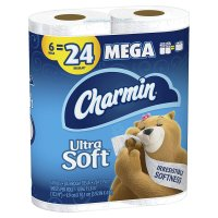 Charmin Bath Tissue Ultra Soft Double Roll Toilet Paper 2-Ply 6CT product image