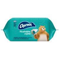 Charmin Flushable Wipes Refill Adult Sized Wipes 80CT product image