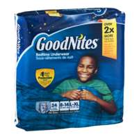Goodnites Boys Underpants Large 60-125LB Mega Pack 24CT product image