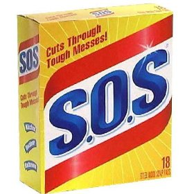 SOS Steel Wool Soap Pads 18CT Box product image