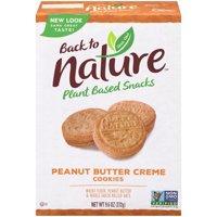 Back To Nature Cookies Peanut Butter Creme Sandwich 9.6oz PKG product image