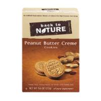Back To Nature Cookies Peanut Butter Creme Sandwich 9.6oz PKG product image