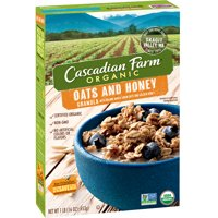Cascadian Farm Cereal Oats N Honey Granola 16oz Box product image