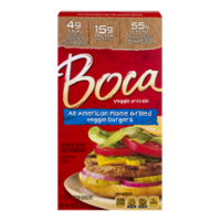 Boca Burgers All-American Flamed Grilled Veggie Burgers 4CT 10oz Box product image