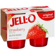 Jell-O Gelatin Snacks Strawberry 4CT product image