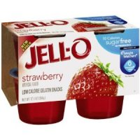 Jell-O Gelatin Snacks Sugar Free Strawberry 4CT product image