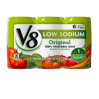 V8 100% Vegetable Juice Low Sodium 5.5oz. EA 6PK product image