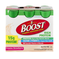 Boost Nutritional Drink High Protein Creamy Strawberry 8oz EA 6PK product image