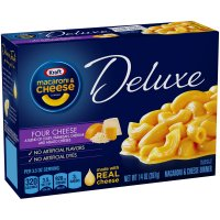 Kraft Deluxe Macaroni & Cheese Dinner Four Cheese 14oz PKG product image