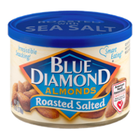 Blue Diamond Almonds Roasted Salted 6oz Can product image