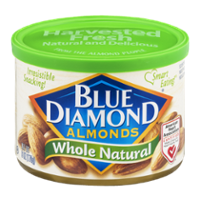 Blue Diamond Almonds Whole Natural 6oz Can product image