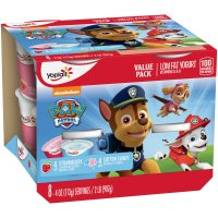 Yoplait Kids Cotton Candy/Strawberry Low Fat Yogurt 4oz EA 8CT PKG product image