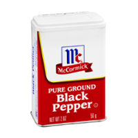 McCormick Black Pepper Ground 1.5oz Can product image