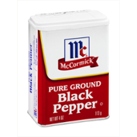 McCormick Black Pepper, Ground 4oz. Can product image