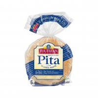 Toufayan White Pita Bread 6CT PKG product image