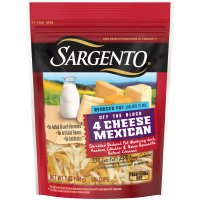 Sargento Reduced Fat 4 Cheese Mexican Shredded Cheese 7oz Bag product image