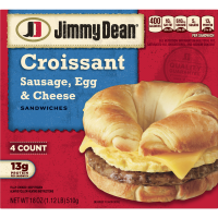 Jimmy Dean Croissant Sandwiches Sausage, Egg, and Cheese 4CT 18oz Box product image