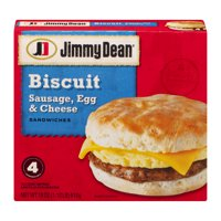 Jimmy Dean Biscuit Sandwiches Sausage, Egg and Cheese Meal Size 4CT 18oz Box product image