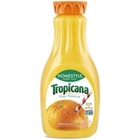 Tropicana Pure Premium Orange Juice Homestyle Some Pulp 52oz BTL product image