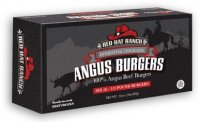 Red Hat Ranch Angus Burgers Frozen All Natural 6CT 2LB Box product image