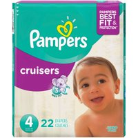 Pampers Cruisers Diapers Size 4 (22-37LB) Jumbo Pack 22CT PKG product image