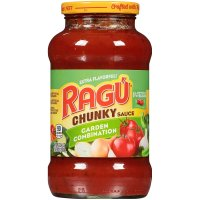 Ragu Chunky Pasta Sauce Garden Combination 24oz Jar product image