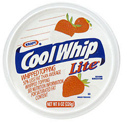 Cool Whip Whipped Topping Lite 8oz. Tub product image