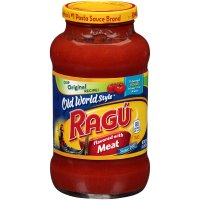 Ragu Spaghetti Sauce Old World Style with Meat 23.9oz Jar product image