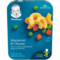 Gerber Macaroni & Cheese with Seasoned Peas & Carrots 6.6oz PKG product image