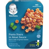 Gerber Pasta Stars in Meat Sauce with Green Beans 6.8oz PKG product image