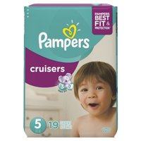 Pampers Cruisers Size 5 (27 Plus LBS) Jumbo Pack 19CT product image