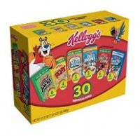 Kellogg's Jumbo Pack Cereal Singles 30CT Individual Boxes 32.7oz PKG product image