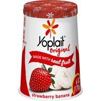 Yoplait Original Yogurt Lowfat Strawberry Banana 6oz Cup product image