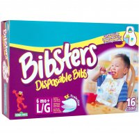 Pampers Bibsters Disposable Bibs Large 16CT product image