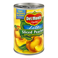 Del Monte Lite Sliced Peaches in Light Syrup 15oz Can product image