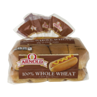 Arnold 100% Whole Wheat Hot Dog Rolls 8CT product image