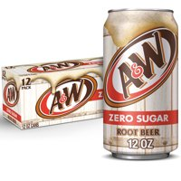 A&W Zero Sugar Root Beer 12PK of 12oz Cans product image