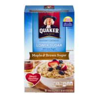 Quaker Instant Oatmeal Maple & Brown Sugar Lower Sugar 10PK 11.9oz Box product image