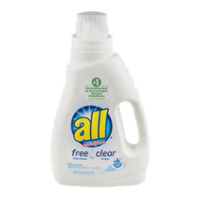 All Liquid Detergent Free Clear 2x Concentrate 36.oz BTL product image