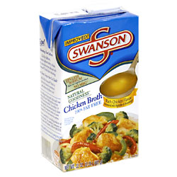 Swanson Chicken Broth 99% Fat Free 32oz. Box product image