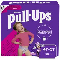 Huggies Pull-Ups Training Pants Learning Designs 4T-5T Girls 56CT product image