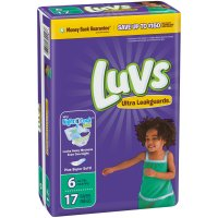 Luvs Diapers Size 6 (Over 35LB) Jumbo 17 CT PKG product image