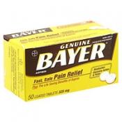 Bayer Aspirin 325mg Tablets 50CT product image