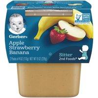 Gerber 2nd Foods Apple Strawberry Banana 4oz 2PK product image