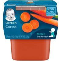 Gerber 2nd Foods Carrots 4oz 2PK product image