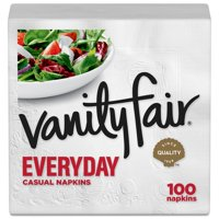 Vanity Fair Premium Quality Napkins White 2Ply 100CT product image