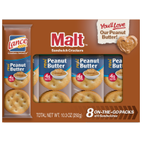Lance Peanut Butter Malt Crackers 8CT10.3oz product image