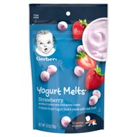 Gerber Yogurt Melts Strawberry 1oz PKG product image