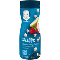 Gerber Puffs Strawberry Apple 1.48oz PKG product image