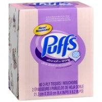 Puffs Ultra Soft & Strong Facial Tissue 56CT Cube product image